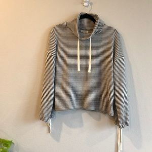 Madewell stripped mock neck jumper size s